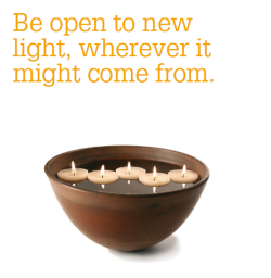 Be open to new light poster