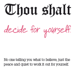 Thou Shalt Decide for Yourself poster