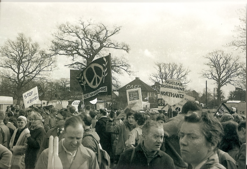 Northamptonshire contingent at Aldermaston March, 1959